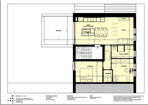 Stylisches Appartement mit Parkplatz und großer Sonnenterrasse nahe sämtlicher Annehmlichkeiten.