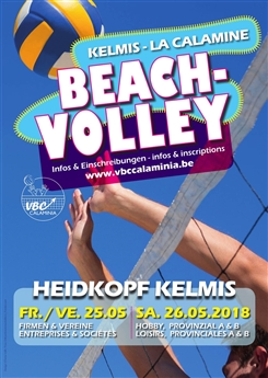 Ostbelgien - Beachvolleyball-Turnier des VBC Calaminia am 25. und 26. Mai 2018